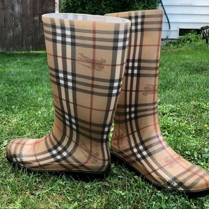 Burberry rain boots authentic